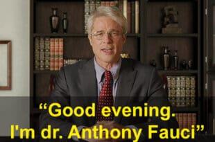 Brad-Pitt Turns Dr Fauci for Saturday Night Live