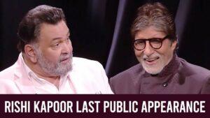 Rishi Kapoor Dies: His Last Public Appearance With Amitabh