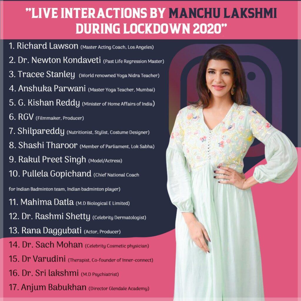 Lakshmi Manchu lockdown Interviews
