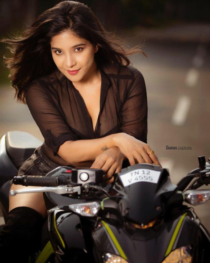 Photos: Sakshi Agarwal Hot Poses On Sports Bike