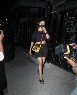 Rakul In Black Shorts At Saloon