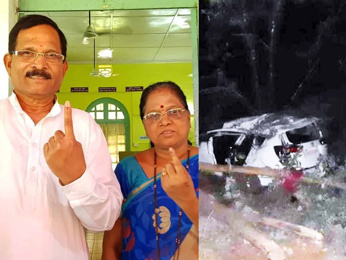 Union Minister Injured In Car Accident, Wife Died - Gulte