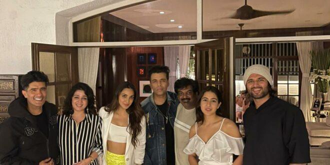 Kiara, Sara's Weekend Party With Vijay Deverakonda - Gulte