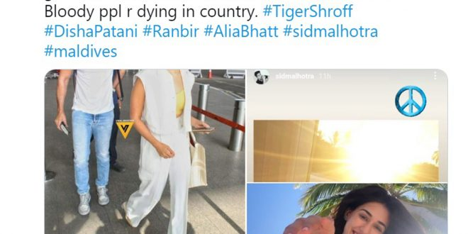 Angry Netizens Over 'B-town Celebs' 'Maldives Holidaying'