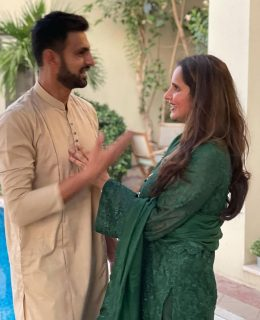 Sania Celebrates Eid With Shoaib Malik In Dubai
