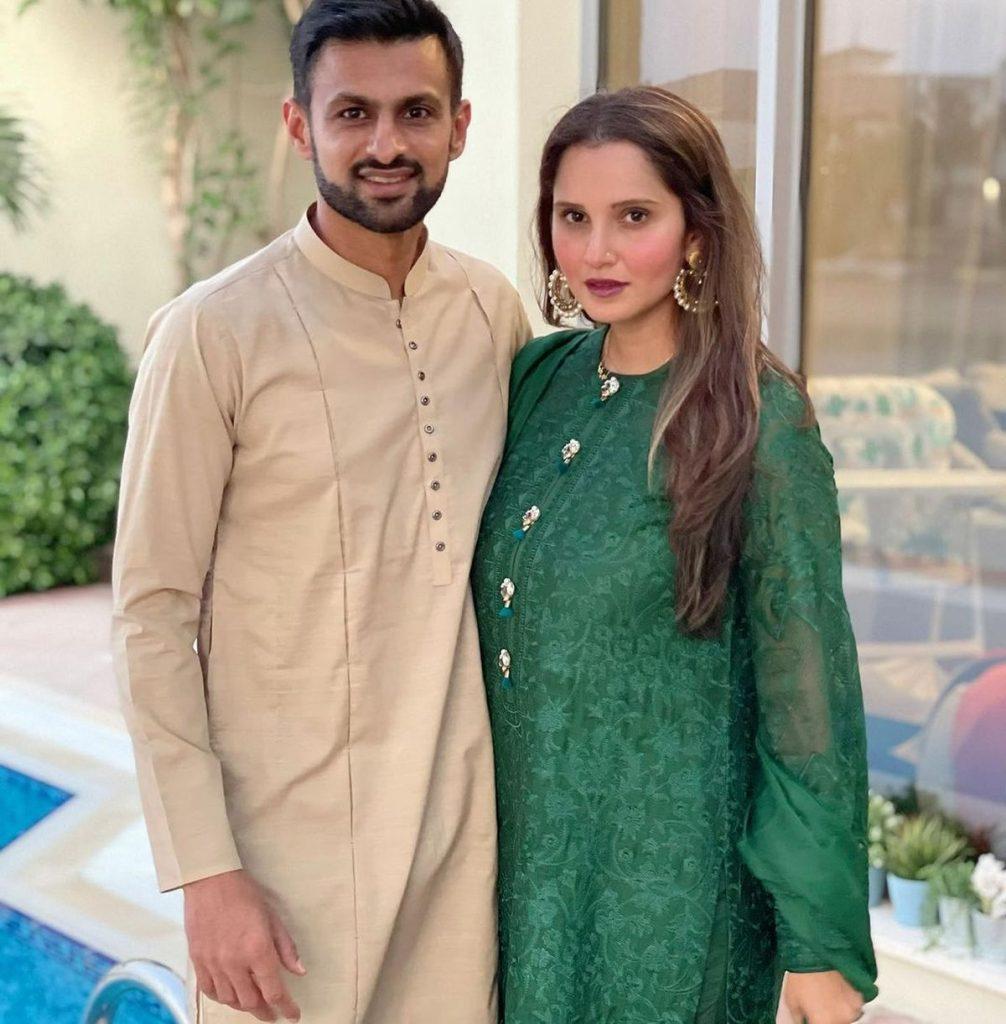 Sania Celebrates Eid With Shoaib Malik In Dubai - Gulte