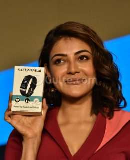 Kajal Agarwal Launches Safe Zone Covid Contact Tracing Device