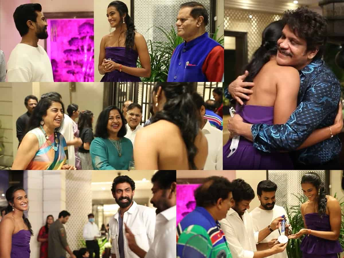 Watch: Chiru Hosted A Party For PV Sindhu -