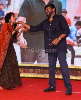 Pics: Chiru Dances With Sai Pallavi At Love Story Pre Release Event