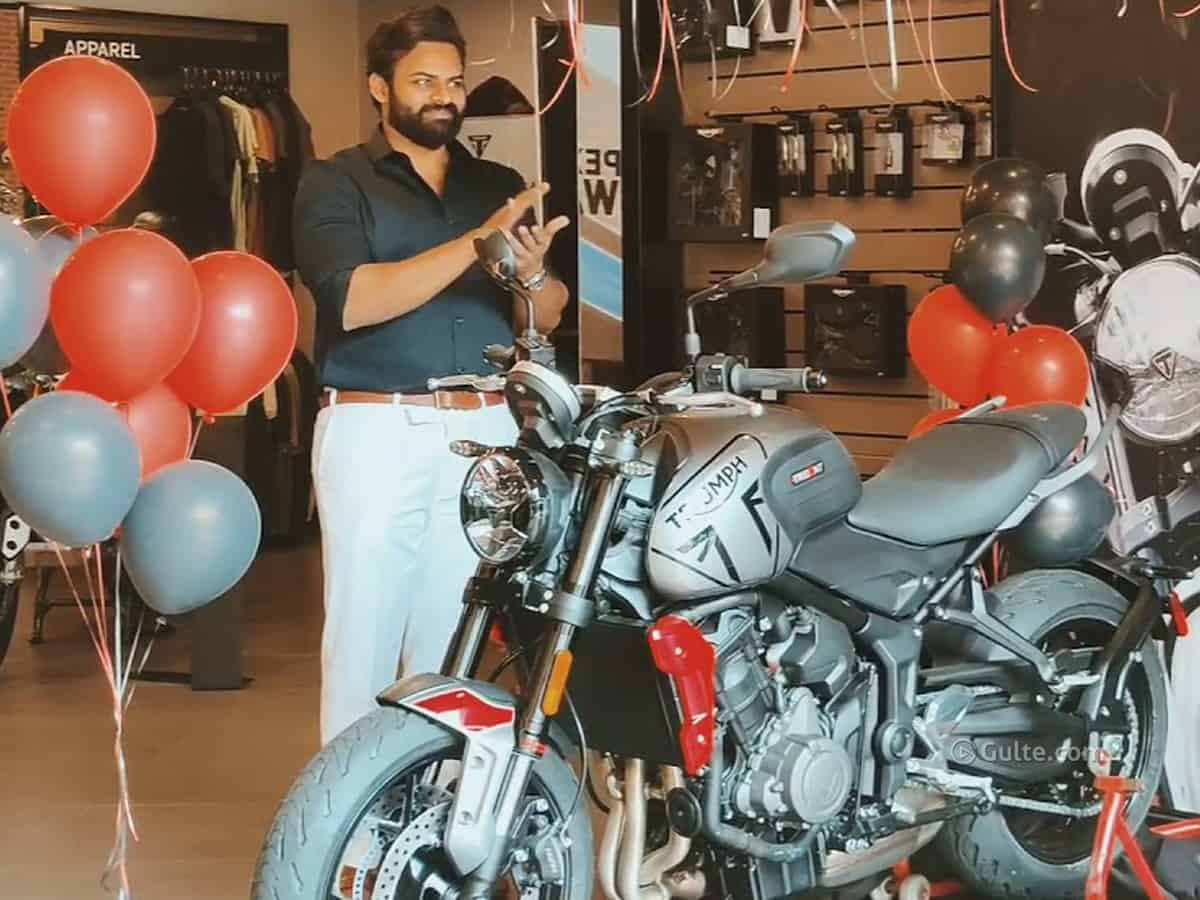 All you need to know about Sai Dharam Tej's Triumph bike